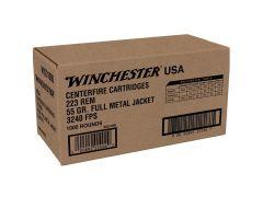 W2231000 Winchester USA 223 Remington 55 Grain FMJ - 1000 Round