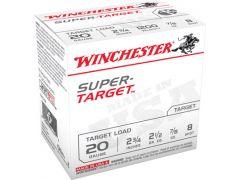 "TRGT208 Winchester Super Target  20 Ga 2.75"" 7/8 oz 8 Shot"