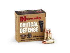 Hornady Critical Defense 9mm 115 Grain JHP (Case)