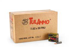 TulAmmo 7.62x39mm 122 Grain FMJ (Case)