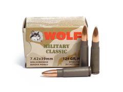 Wolf Military Classic 7.62x39 124 Grain HP Ammo (Case)